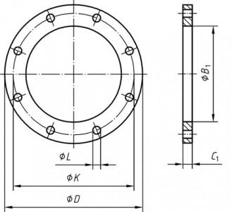 Фланец плоский EN 1092-1 Ру 6