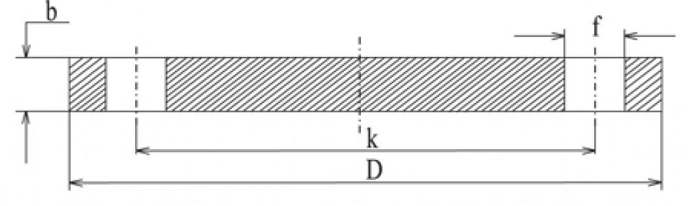 Фланец глухой Ру 10 (алюминий)