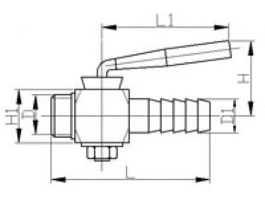 Кран сливной шланговый НР