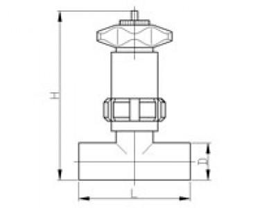 Вентиль дроссельный сварка-сварка DIN