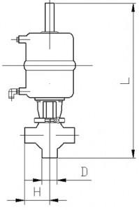 Клапан седельный тип NT (сварка/сварка) с пневмоприводом