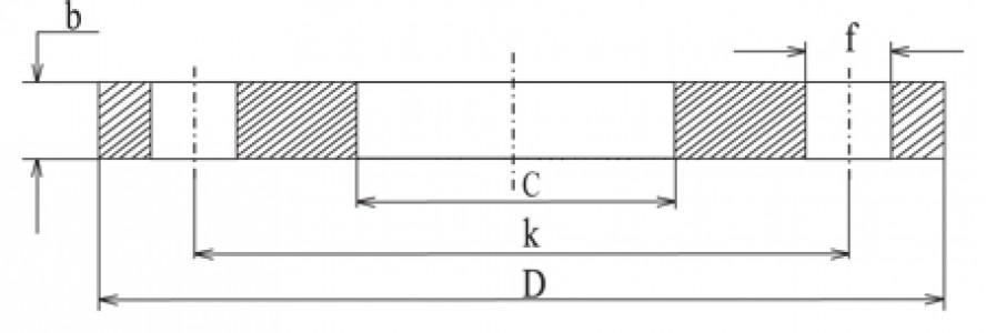 Фланец плоский Ру 10 (алюминий)