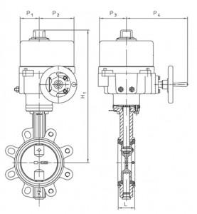 Поворотный затвор, тип - ротор
